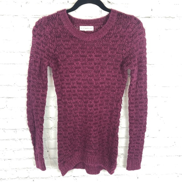 Anthropologie Sweaters - Anthropologie Plum if it were me Sweater Sz Small